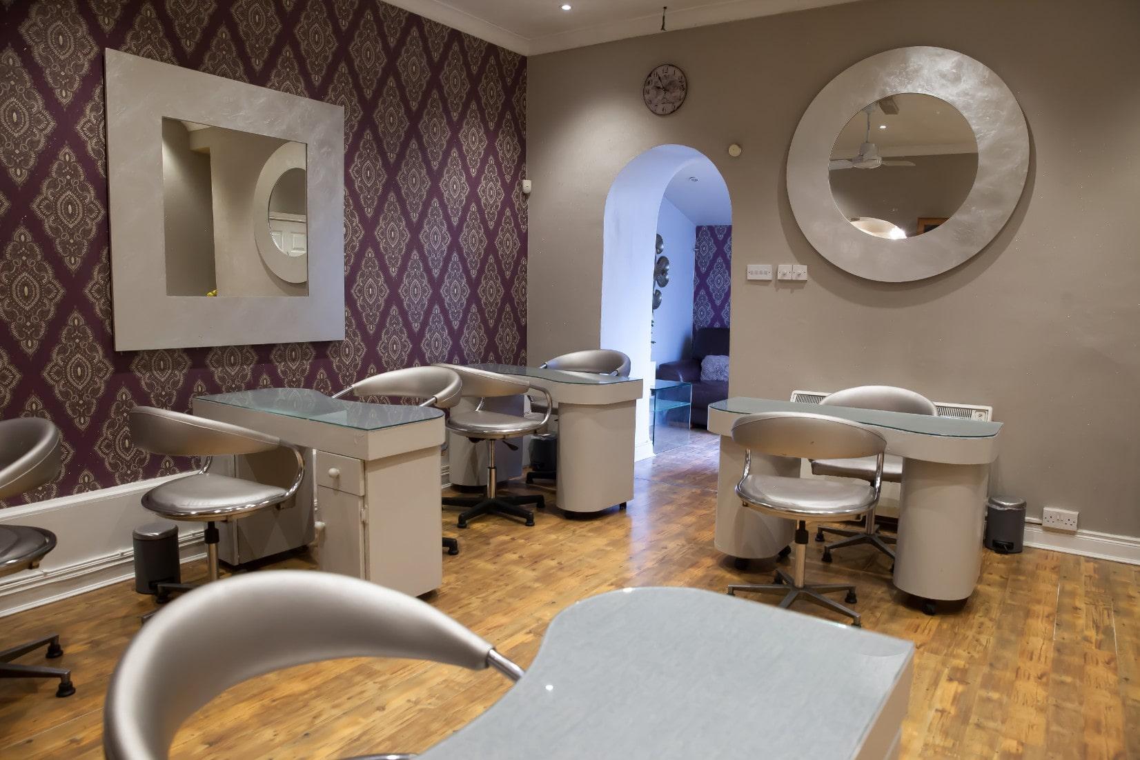 Blue Moon Beauty Salon nail services area